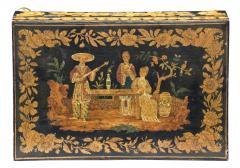 Late Regency Chinoiserie Penwork Box Circa 1830 - 117287