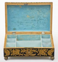 Late Regency Chinoiserie Penwork Box Circa 1830 - 117288