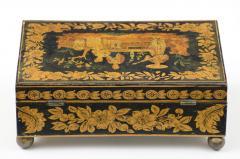 Late Regency Chinoiserie Penwork Box Circa 1830 - 117289