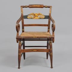 Late Sheraton Fancy Grain Painted Armchair - 307938