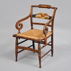 Late Sheraton Fancy Grain Painted Armchair - 307939