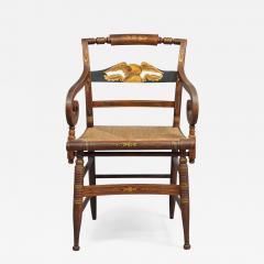 Late Sheraton Fancy Grain Painted Armchair - 308374