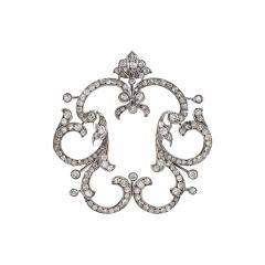 Late Victorian Diamond Gold and Silver Pendant - 718862