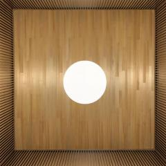 Laura Portarrieu PALEA PL01 Straw marquetry floor lamp - 1304970