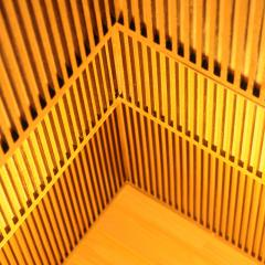 Laura Portarrieu PALEA PL01 Straw marquetry floor lamp - 1304971