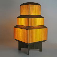 Laura Portarrieu PALEA PL01 Straw marquetry floor lamp - 1304973