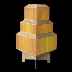 Laura Portarrieu PALEA PL01 Straw marquetry floor lamp - 1304978