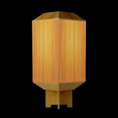 Laura Portarrieu PALEA PL03 Straw marquetry table lamp - 1304963