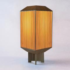 Laura Portarrieu PALEA PL03 Straw marquetry table lamp - 1304966