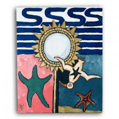 Laurence Calabuig ENDLESS REFLECTIONS JONATHAN SEAGULL AND LINE VAUTRIN MIRROR Acrylic painting - 1504390
