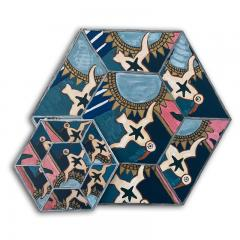 Laurence Calabuig ENDLESS REFLECTIONS LA ROUE DE LA FORTUNE Hexagonal painting - 1504507