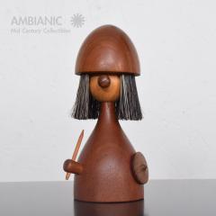 Laurids L nborg Kay Bojesen Laurids L nborg Teakwood Viking TOY Doll Lint Brush DENMARK 1960s - 1518346