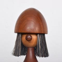 Laurids L nborg Kay Bojesen Laurids L nborg Teakwood Viking TOY Doll Lint Brush DENMARK 1960s - 1518348