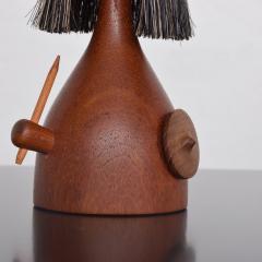 Laurids L nborg Kay Bojesen Laurids L nborg Teakwood Viking TOY Doll Lint Brush DENMARK 1960s - 1518350