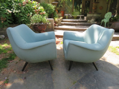 Lawrence Peabody Gorgeous Pair of Lawrence Peabody Barrel Back Tub Chairs - 979327