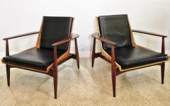 Lawrence Peabody Original Pair Rare Rattan and Teak Armchairs Lawrence Peabody model 1806 - 663802