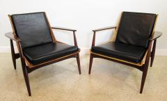 Lawrence Peabody Original Pair Rare Rattan and Teak Armchairs Lawrence Peabody model 1806 - 663807