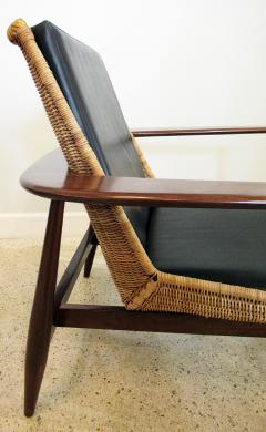 Lawrence Peabody Original Pair Rare Rattan and Teak Armchairs Lawrence Peabody model 1806 - 663811