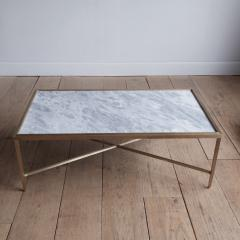 Lawton Mull Daedalus Table in Brass and Stone by Lawton Mull - 1128156