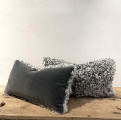 Lawton Mull Pillows of Gotland Lambskin and Mohair Velvet - 1765092