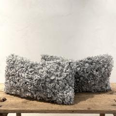 Lawton Mull Pillows of Gotland Lambskin and Mohair Velvet - 1765093