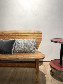 Lawton Mull Pillows of Gotland Lambskin and Mohair Velvet - 1765094