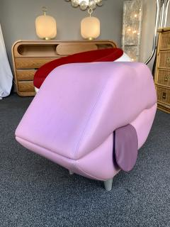 Leather Mouth Pouf Stool Italy 1990s - 1597854