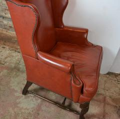 Leather Wingback Chair - 1132693