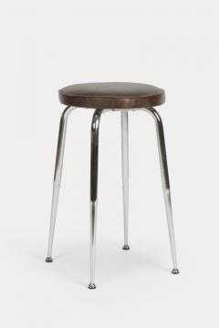 Leather stool Switzerland 1950s - 1719966