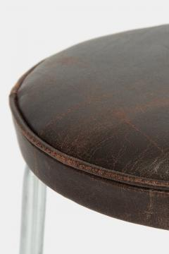 Leather stool Switzerland 1950s - 1719970