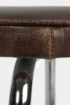 Leather stool Switzerland 1950s - 1719971