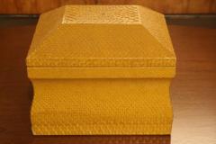 Lemon Yellow Python Skin Jewelry Box by Karl Springer - 774687