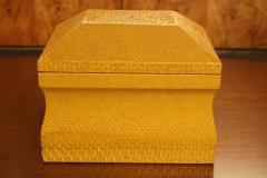 Lemon Yellow Python Skin Jewelry Box by Karl Springer - 774689