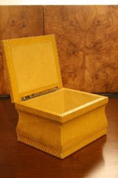Lemon Yellow Python Skin Jewelry Box by Karl Springer - 774728