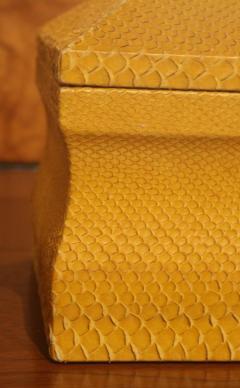 Lemon Yellow Python Skin Jewelry Box by Karl Springer - 774729