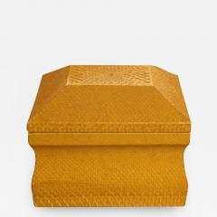 Lemon Yellow Python Skin Jewelry Box by Karl Springer - 777255