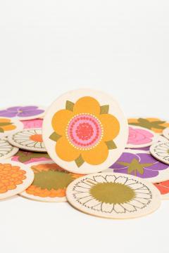 Lena Eklund Lena Eklund Flower Coasters Denmark 60s - 2067344