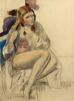 Leon Abraham Kroll Seated Nude - 1235008