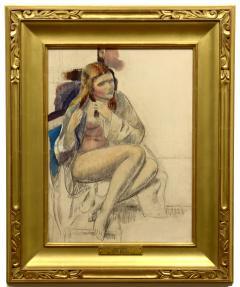 Leon Abraham Kroll Seated Nude - 1235010