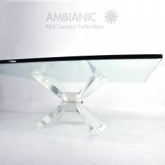 Leon Frost Lucite and Glass Coffee Table - 279151