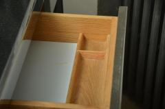Leon Rosen Fabulous Mid Century Polished Steel Desk with Black Marble Top by Leon Rosen - 483650