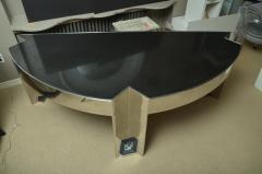 Leon Rosen Fabulous Mid Century Polished Steel Desk with Black Marble Top by Leon Rosen - 483653