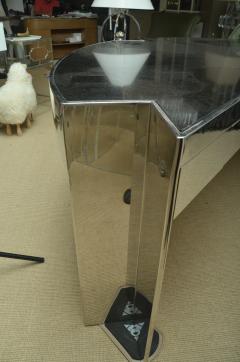 Leon Rosen Fabulous Mid Century Polished Steel Desk with Black Marble Top by Leon Rosen - 483656