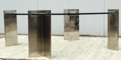 Leon Rosen Leon Rosen For Pace Modernist Steel And Glass Coffee Table - 2101594