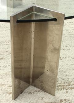 Leon Rosen Leon Rosen For Pace Modernist Steel And Glass Coffee Table - 2101596