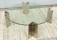 Leon Rosen Leon Rosen For Pace Modernist Steel And Glass Coffee Table - 2101600