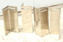 Leon Rosen Leon Rosen For Pace Modernist Steel And Glass Coffee Table - 2101602