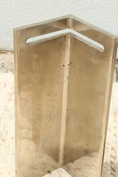 Leon Rosen Leon Rosen For Pace Modernist Steel And Glass Coffee Table - 2101604