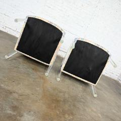 Leon Rosen Modern lucite waterfall side chairs attributed to leon rosen - 2066125