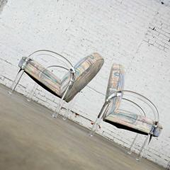 Leon Rosen Modern lucite waterfall side chairs attributed to leon rosen - 2066128